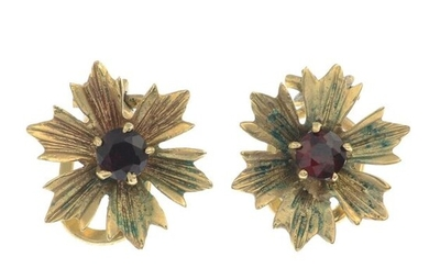 9ct gold cultured pearl floral earrings, hallmarks for...
