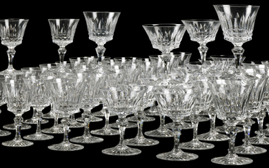 A BACCARAT 'BUCKINGHAM' PATTERN CUT-GLASS PART TABLE-SERVICE, 20TH CENTURY, ACID ETCHED FACTORY MARKS