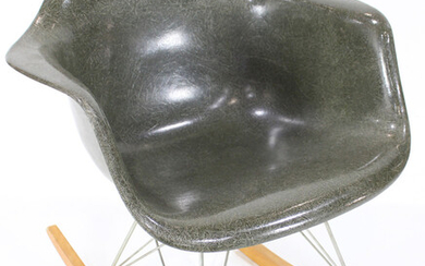 A Charles and Ray Eames for Herman Miller RAR shell rocking chair