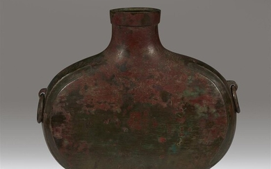 A Chinese archaic bronze vessel, Bianhu Han Dynasty Of...