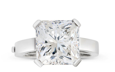 A Diamond, Platinum and White Gold Ring