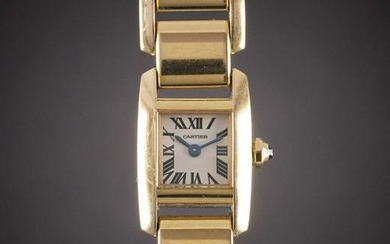 A LADIES 18K SOLID GOLD CARTIER TANKISSIME