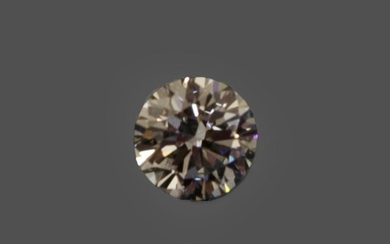 A Loose Round Brilliant Cut Diamond, weighing 0.82 carat approximately...
