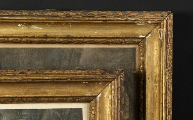 "A Pair of Carved Giltwood 18th Century Frames. 8.5"" x"