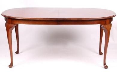 A Queen Anne Style Mahogany Dining Table
