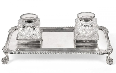 A Victorian Silver Inkstand, by George Maudsley Jackson and David...