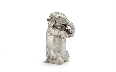A Victorian silver novelty claret jug by James Barclay Hennell