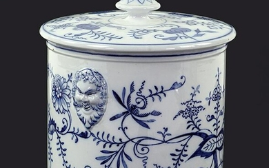 A Villeroy and Boch Blue and White Porcelain Covered