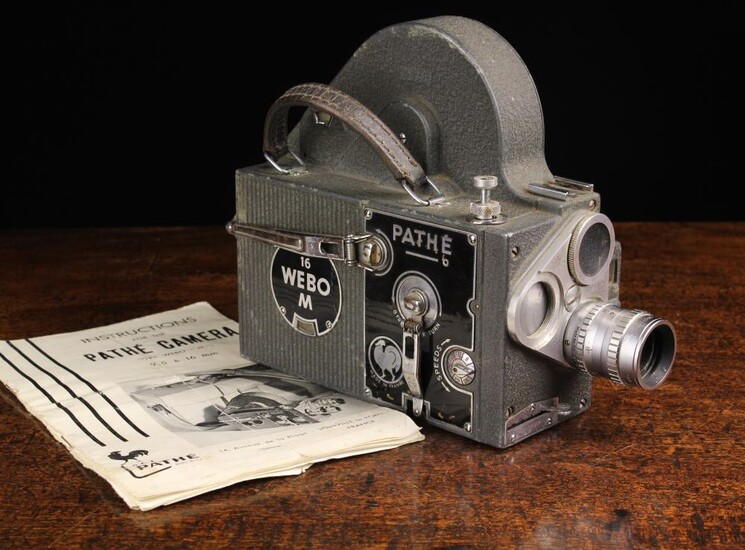 A Vintage French Pathe '16 Webo M' Film Camera, Circa late 1950's-early 1960's, taking 16 mm film st