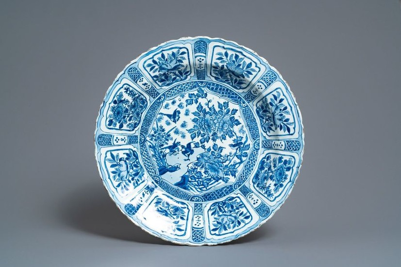 A large and fine Chinese blue and white...