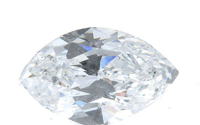 A marquise-shape diamond, weighing 0.97ct.
