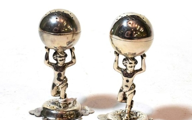 A pair of Victorian silver pepperettes, by Jehoiada Alsop Rhodes,...