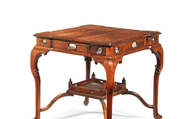 A rosewood gaming table