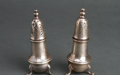 American Sterling Silver Salt & Pepper Shakers Pr