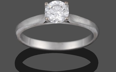An 18 Carat White Gold Diamond Solitaire Ring, the round...