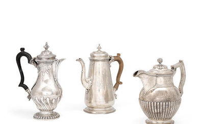 An assembled group of English and Irish sterling silver hollowware