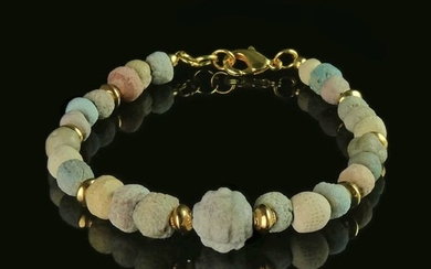 Ancient Egyptian Faience Bracelet with faience beads from the Amarna Period