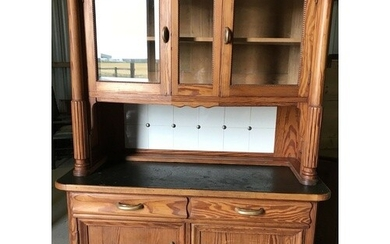 Antique Pine Dresser. This is a very nice solid dresser, it...