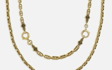Antique gold and enamel necklace