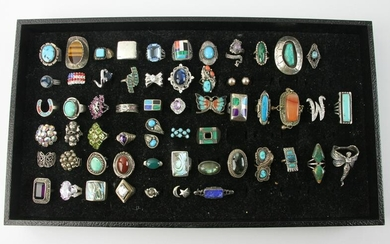 Assorted Group of Indian Sterling Jewelry