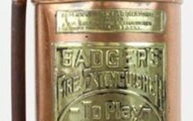 Badger Brass and Copper Fire Extinguisher