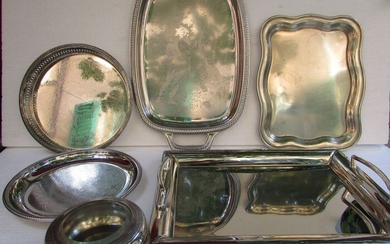 Broggi,Alfra-Alessi - Fruit bowl, container for chocolates or other items, trays for various uses, centerpieces (6) - Art Deco - Steel (stainless)