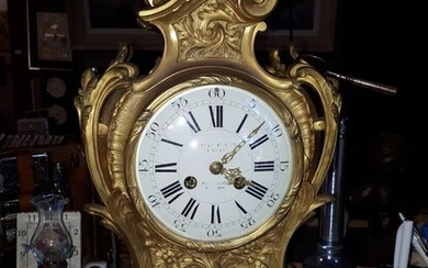 Cartel clock - Bronze (gilt/silvered/patinated/cold painted) - Second half 19th century