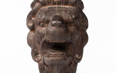 Cast Iron Lion Head Architectural Fitting
