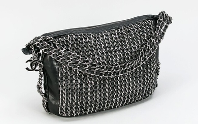 Chanel, All-Over Chain Embellished Tote Bag, feines schwarzes...