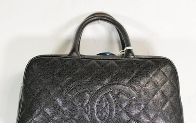 Chanel Front Logo Medium Boston in Front Logo Caviar