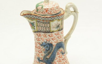 Chinese Famille Rose Export Porcelain Teapot and Cover.