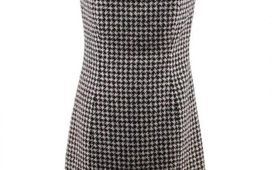 Christian Dior Houndstooth Wool Cashmere Bustier Dress