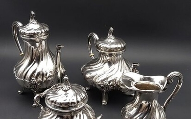 Coffee service (4) - .800 silver - Italy - Mid 20th century