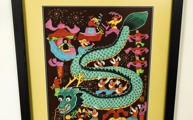 Contemporary Folk Art Painting Chinese New Year