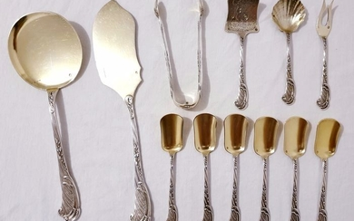 Cutlery set (12) - .950 silver - ODIOT - France - Second half 19th century