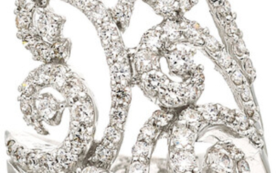 Diamond, White Gold Ring The ring features full-cut diamonds...