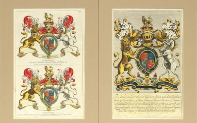 ENGLISH COATS OF ARMS, KING GEORGE, PR. OF WALES