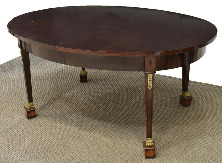 FRENCH EMPIRE STYLE MAHOGANY EXTENSION TABLE