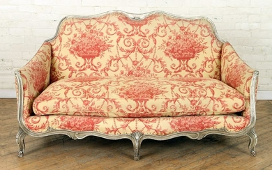 FRENCH LOUIS XV STYLE SETTEE ATTR. TO JANSEN