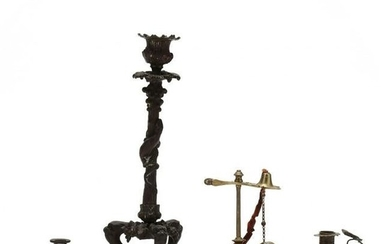 Four Antique Candlesticks