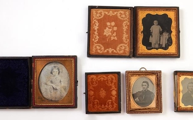 Four Cased Photographs, 19th c., consisting of a