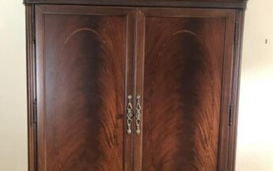 French Rococo Style Carved Linen Press / Wardrobe