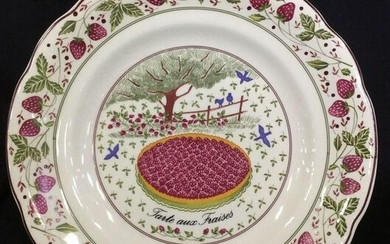 GIEN FRANCE Set 6 Marie Pierre Porcelain Plates