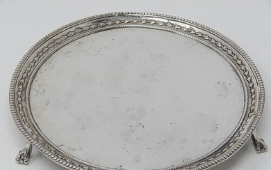 George III Silver Salver with Gadrooned Border Sitting on Th...