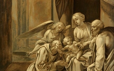 Giuseppe Cesari, called Il Cavaliere D'Arpino - The Holy Family Adored by Saint Francis and an Angel