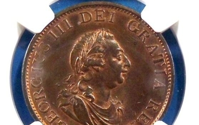 Great Britain - Half Penny George III 1799 - NGC - MS 64 BN - Copper