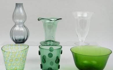 Group of Glass Vases