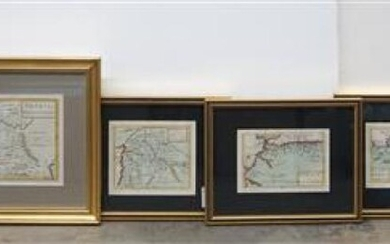 Group with Six Color Engraved Maps of the Middle East, Largest: 16 x 20-1/2 inches