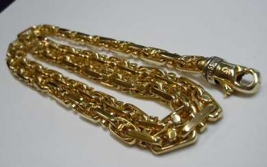 HEAVY ITALIAN BRACCIO 14Kt 5MM MARINER CHAIN NECKLACE