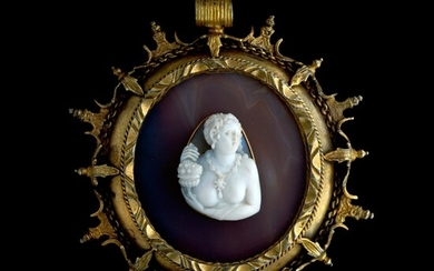 ITALIAN, PROBABLY MILAN, SECOND HALF 16TH CENTURY   CAMEO WITH A PERSONIFICATION OF ABUNDANCE